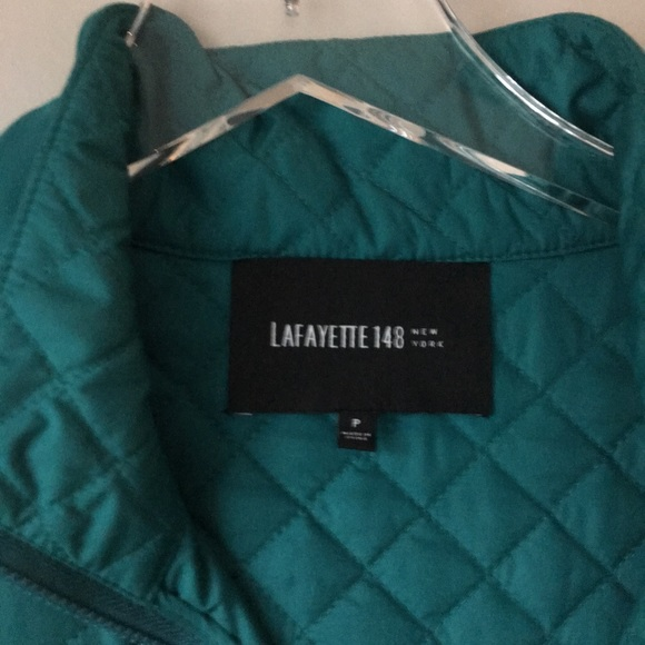 Lafayette 148 New York Jackets & Blazers - LAFAYETTE 148 NEW YORK Teal Quilted Vest Sz P